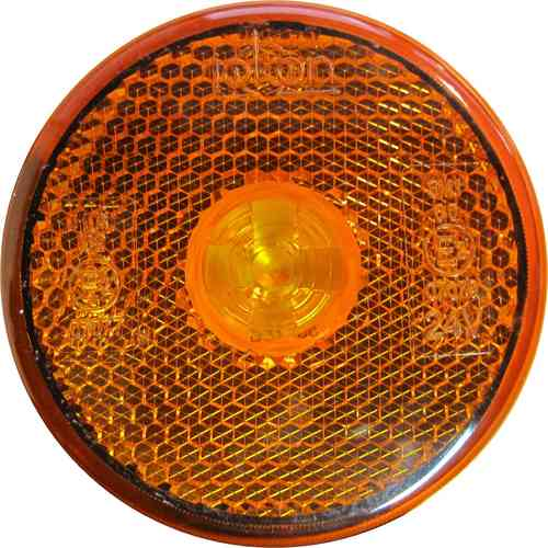 Feu AR à LED rond 24V orange