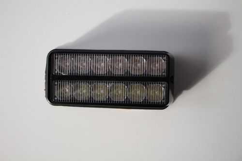 Feux à éclat 5 LED orange et 6 LED blanc 12/24V